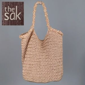 The Sak Crochet Hobo Vegan Tote Purse
